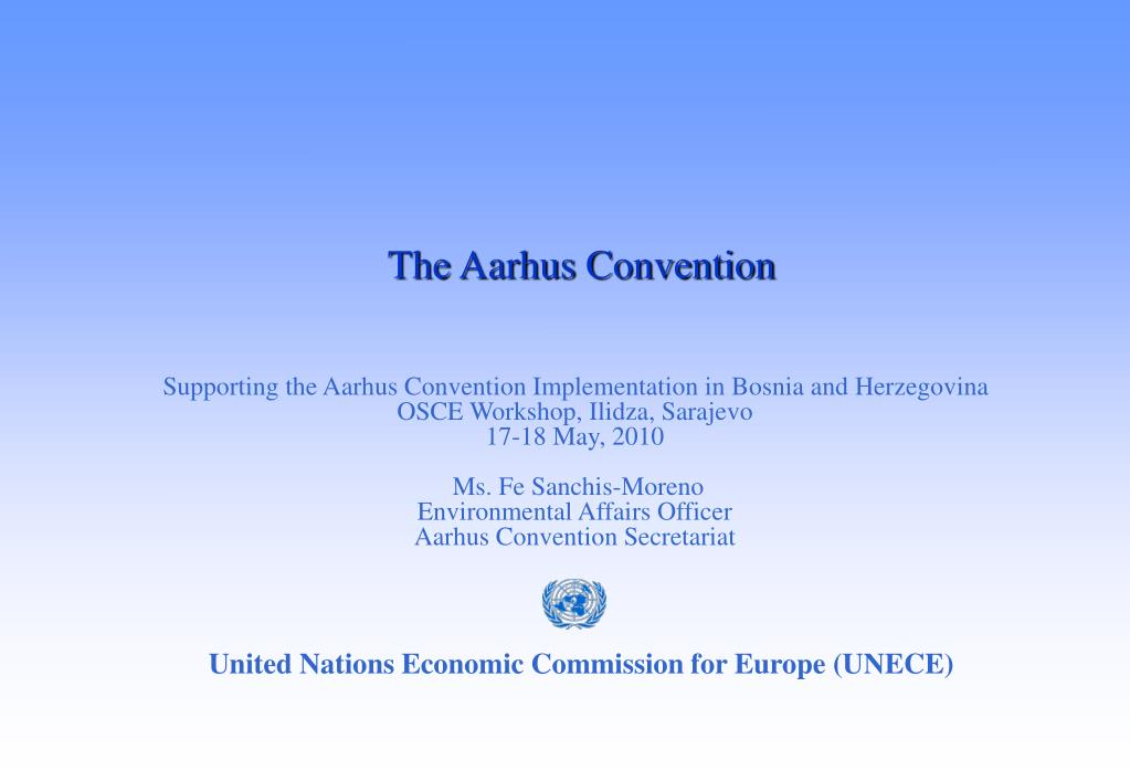 the aarhus convention l.