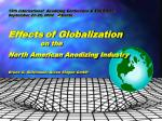 Effects of Globalization on the North American Anodizing Industry