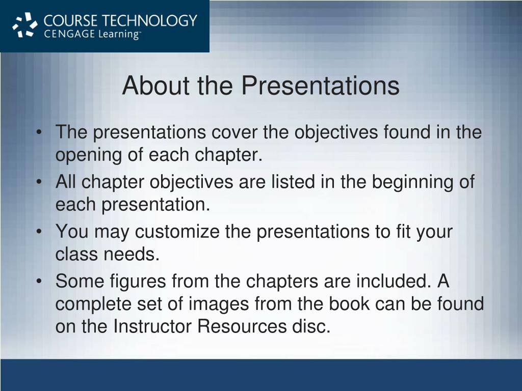 about the presentations l.