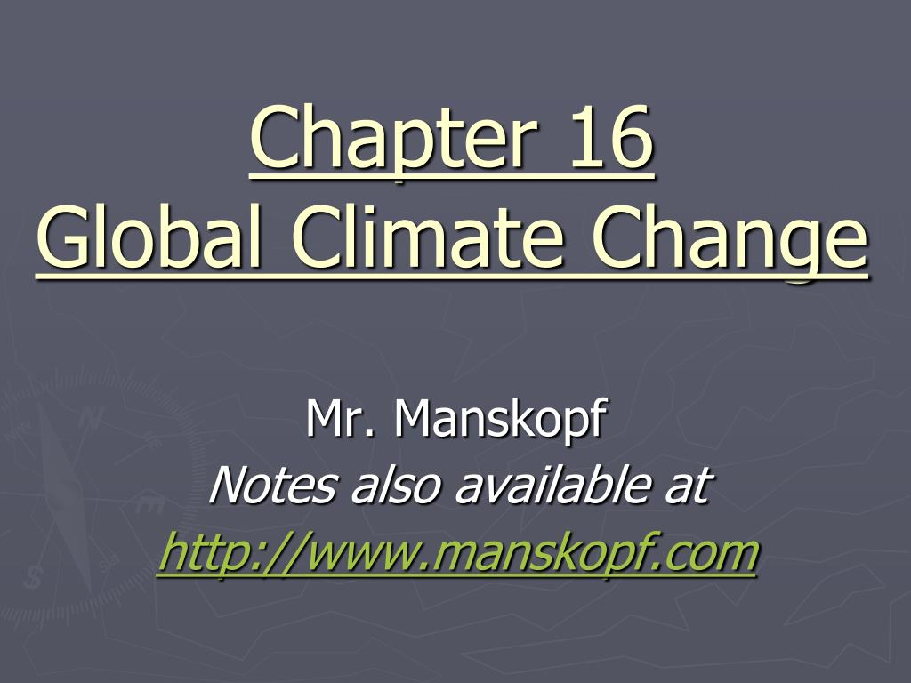 chapter 16 global climate change l.