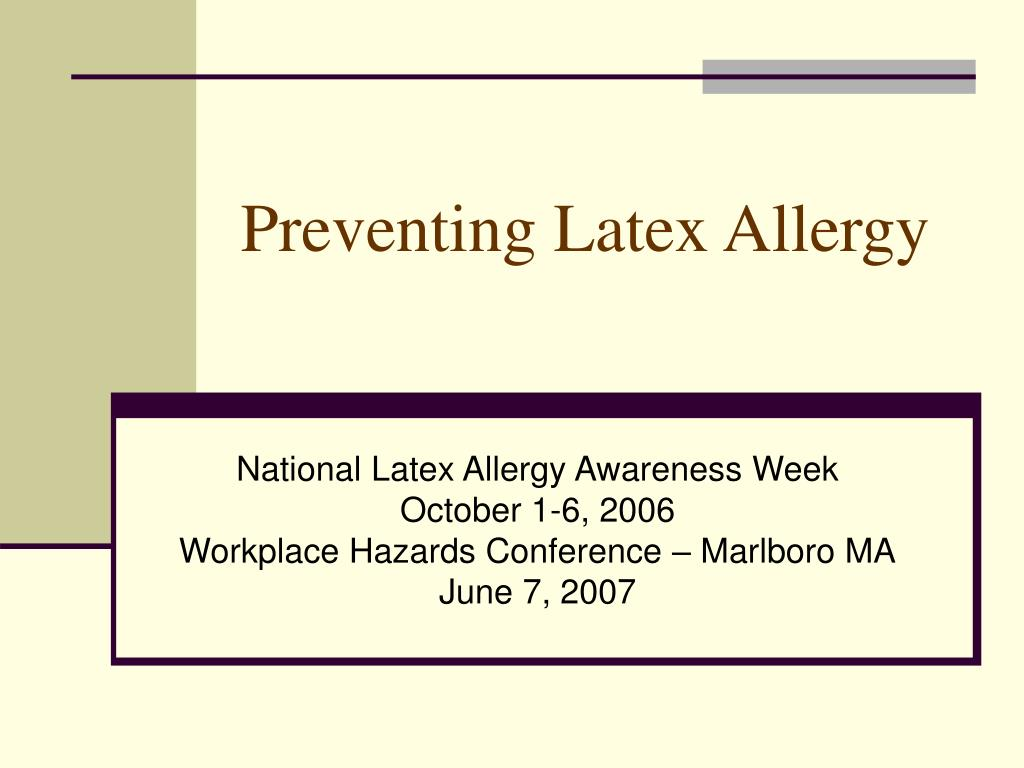 preventing latex allergy l.