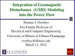 Integration of Geomagnetic Disturbance (GMD) Modeling into the Power Flow