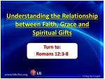 Understanding the Relationship between Faith, Grace and Spiritual Gifts