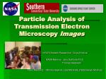 Particle Analysis of Transmission Electron Microscopy  Images