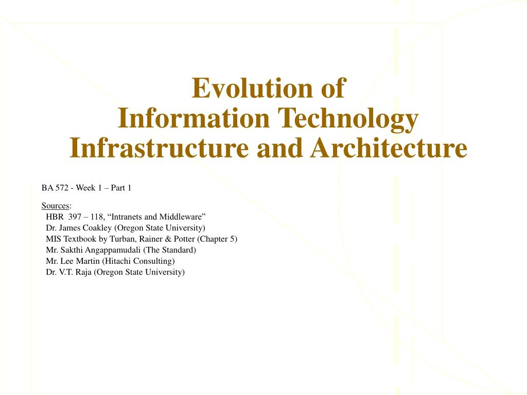 evolution of information technology infrastructure and architecture l.