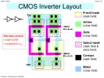 CMOS Inverter Layout