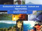 Ecotourism in BIMP-EAGA: Outlook and Opportunities