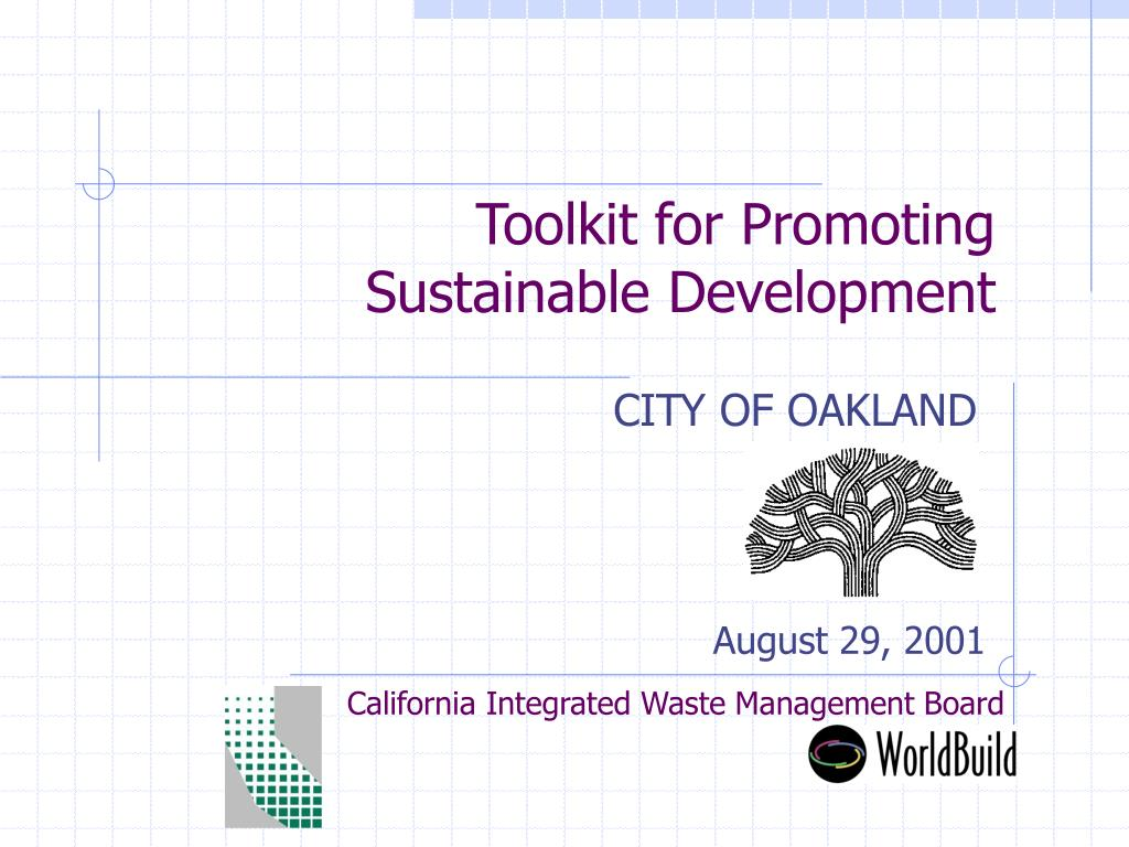 toolkit for promoting sustainable development l.