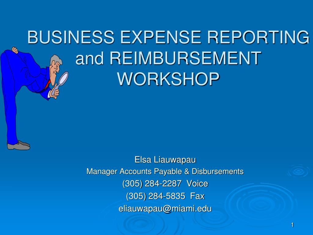 business expense reporting and reimbursement workshop l.
