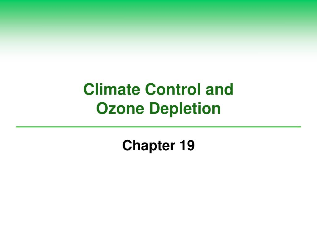 climate control and ozone depletion l.