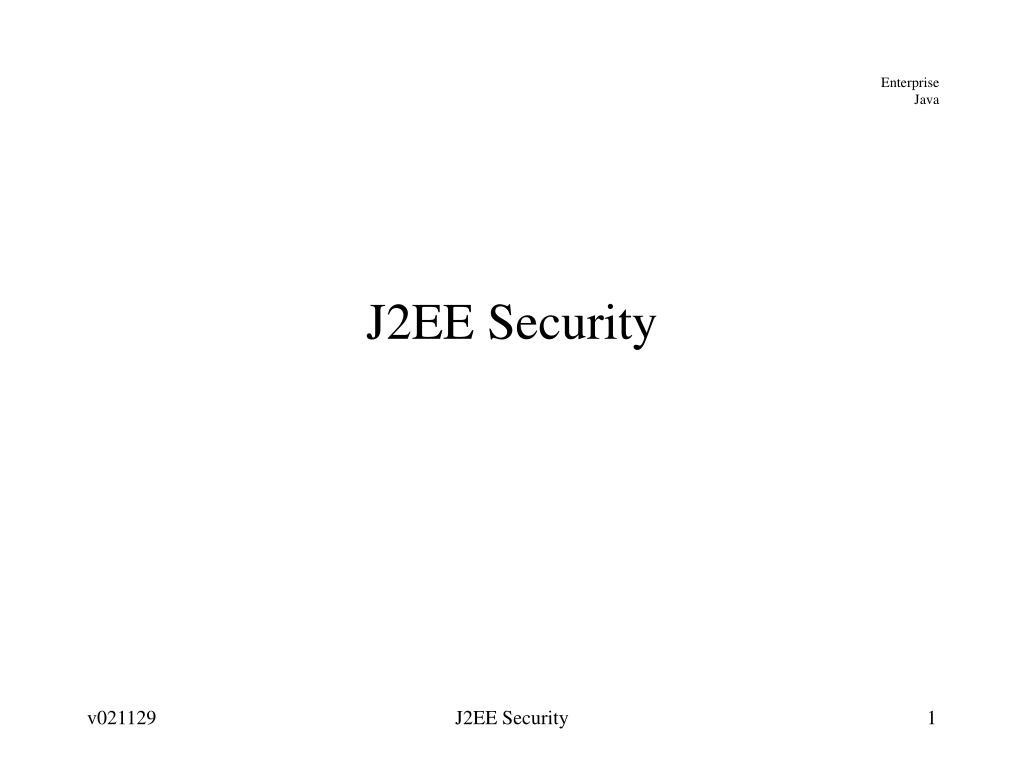 j2ee security l.