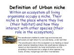 Definition of Urban niche