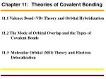 Chapter 11:  Theories of Covalent Bonding