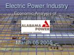 Electric Power Industry