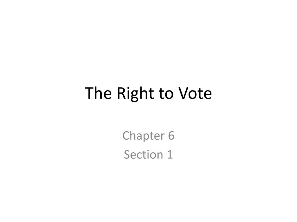 the right to vote l.