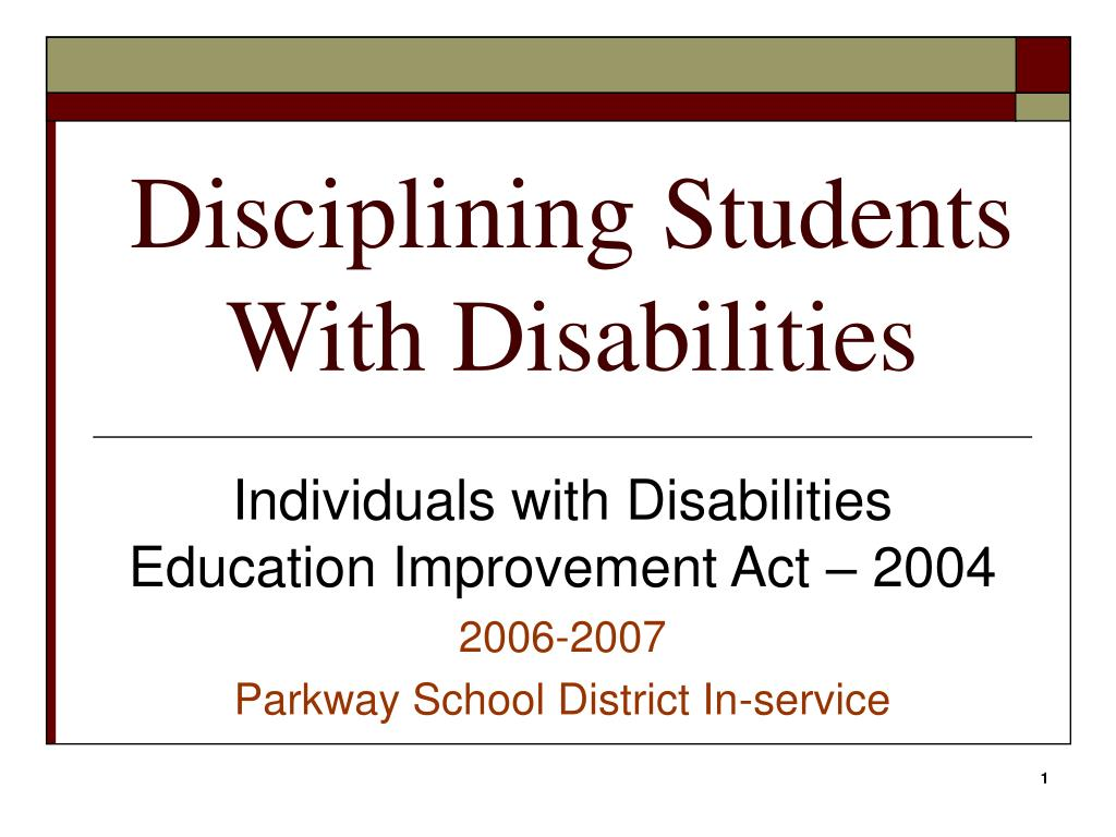 disciplining students with disabilities l.