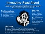 Thinking out Loud Teacher thinking visible Window into reader's mind Stop/Reflect Models metacognition