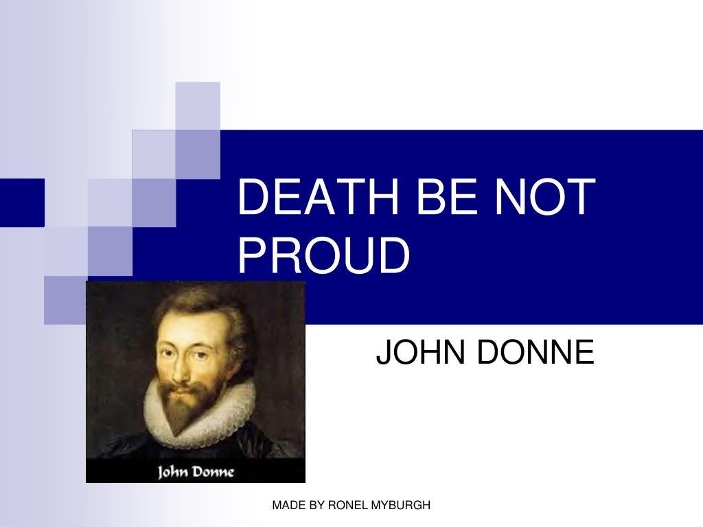 death be not proud l.