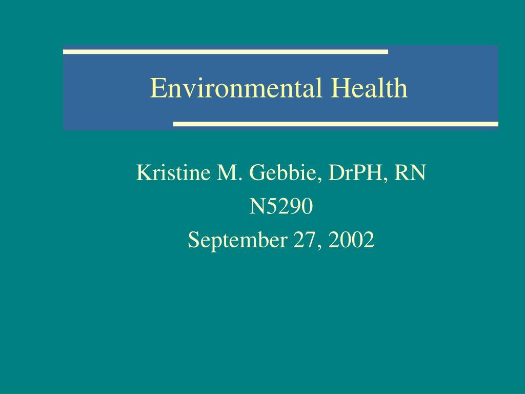 environmental health l.