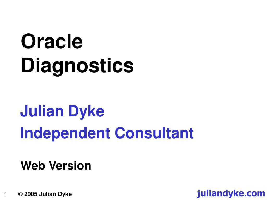 oracle diagnostics l.