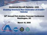 Unmanned Aircraft Systems - UAS Enabling America's Next Generation of Aviation Vehicles