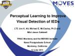 Perceptual Learning to Improve  Visual Detection of IEDs