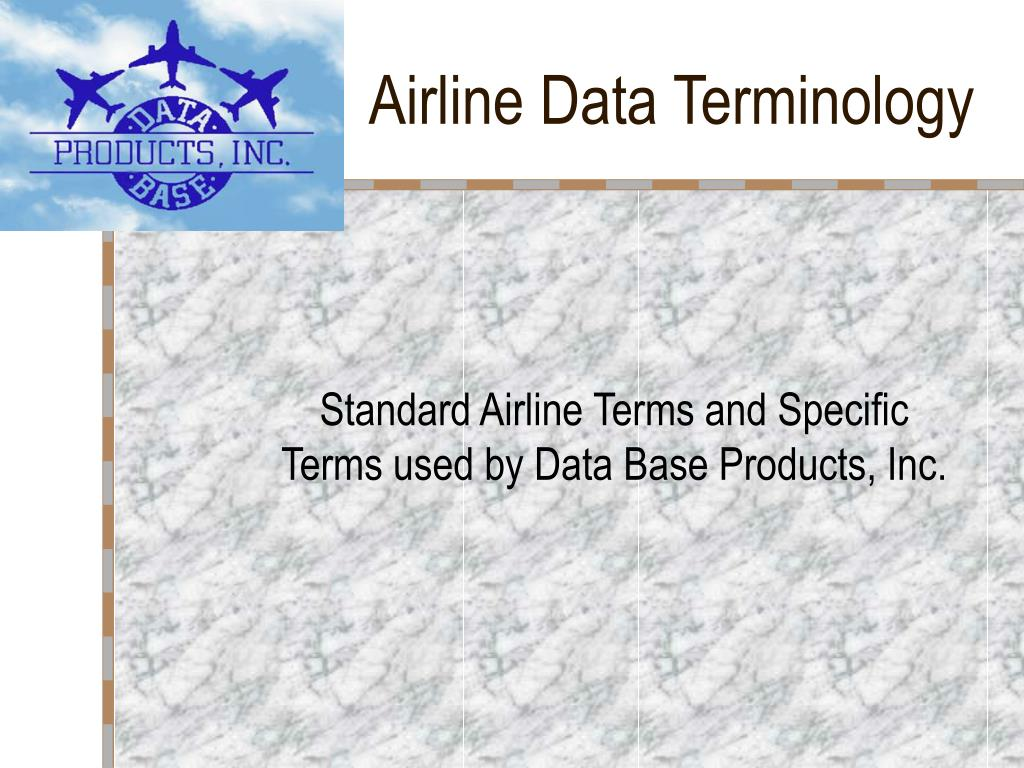 airline data terminology l.