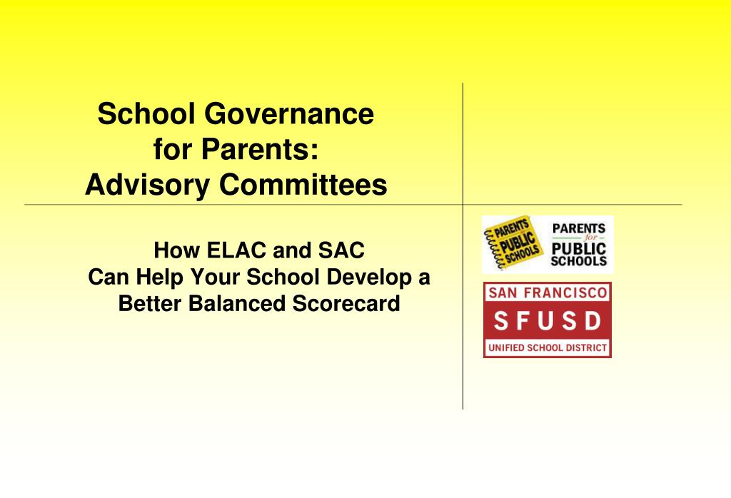 school governance for parents advisory committees l.