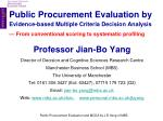 Public Procurement Evaluation by Evidence-based Multiple Criteria Decision Analysis — From conventional scoring to syste