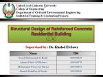 Structural Design of Reinforced Concrete Residential Building GP - II