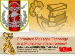 Formatted  Message Exchange in a Multinational Environment