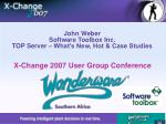 John Weber Software Toolbox Inc. TOP Server – What's New, Hot & Case Studies