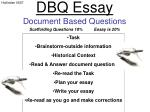 DBQ Essay Document Based Questions