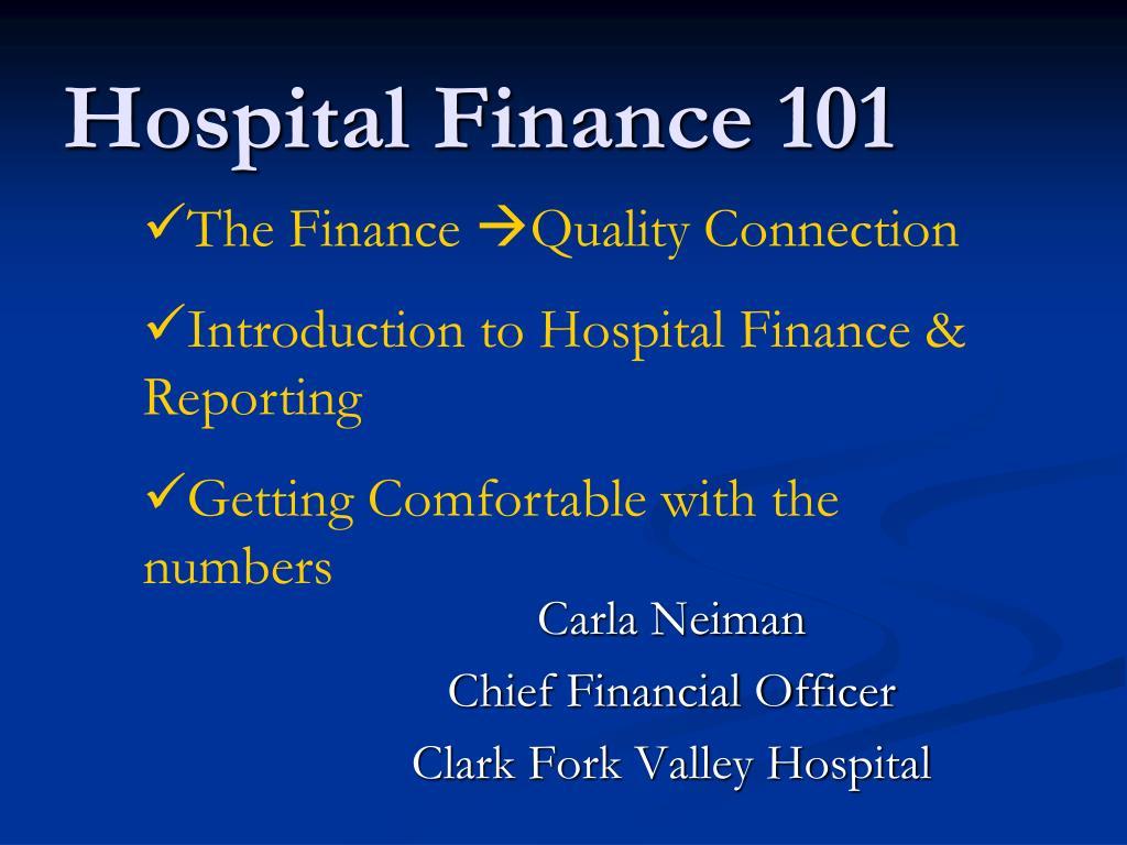 hospital finance 101 l.