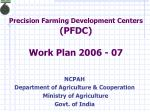 Precision Farming Development Centers (PFDC) Work Plan 2006 - 07