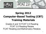 Spring 2012 Computer-Based Testing (CBT) Training Materials