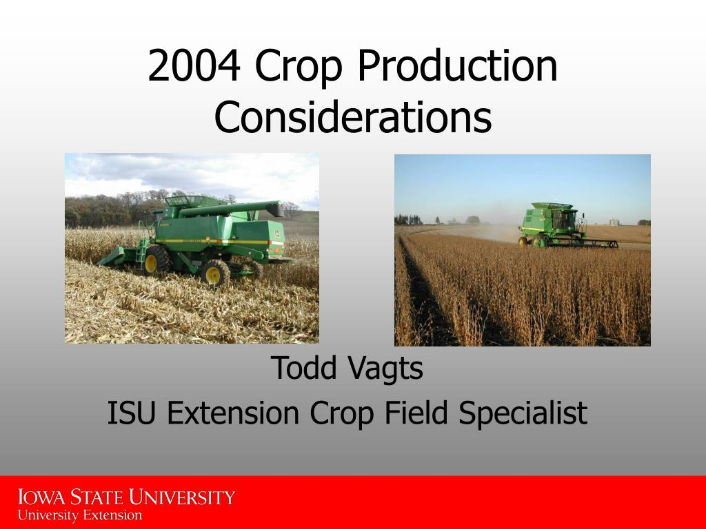 2004 crop production considerations l.