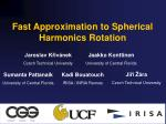 Fast Approximation to Spherical Harmonics Rotation