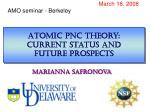 Atomic pnc theory:  current status and  future prospects