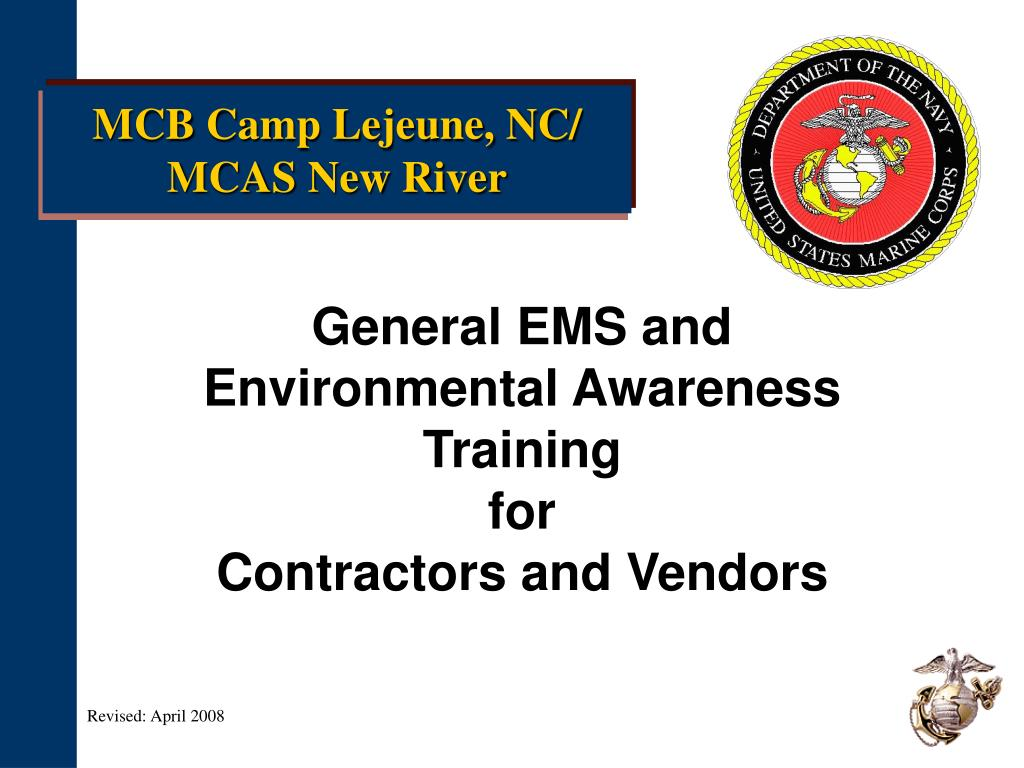 general ems and environmental awareness training for contractors and vendors l.