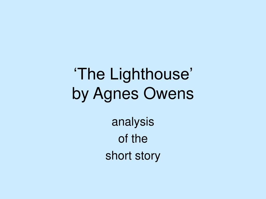the lighthouse by agnes owens l.