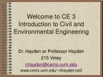 Welcome to CE 3 Introduction to Civil and Environmental Engineering
