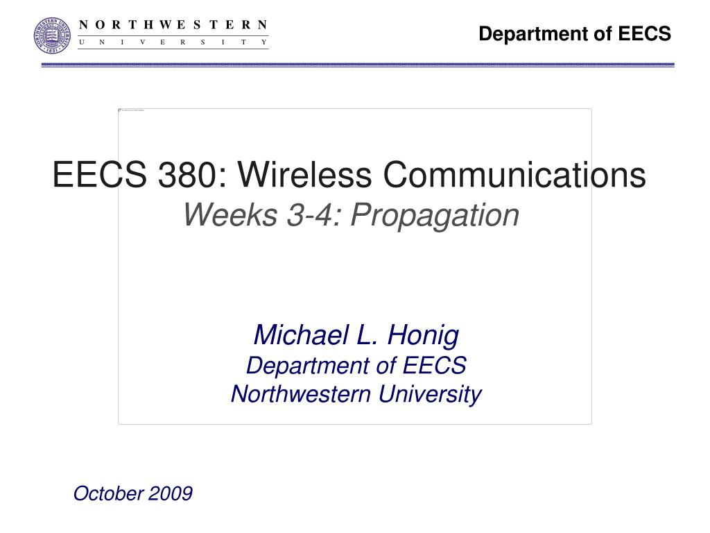 eecs 380 wireless communications weeks 3 4 propagation l.