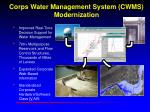 Corps Water Management System (CWMS) Modernization