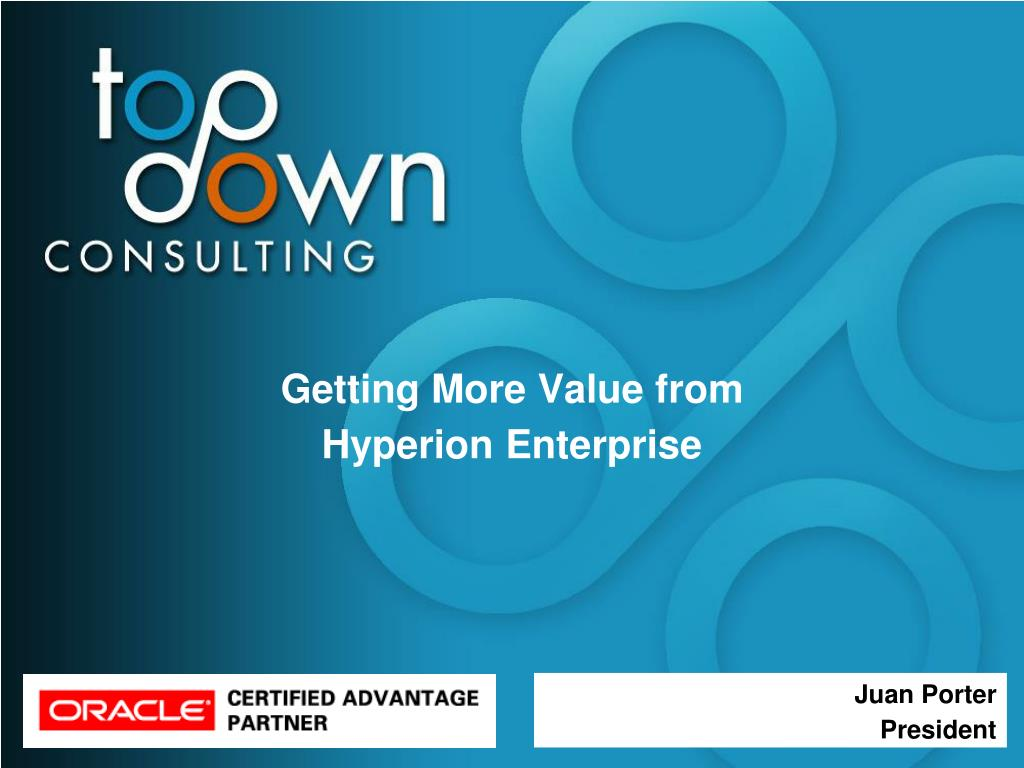 getting more value from hyperion enterprise l.