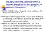 """1. TOZER, SENESE, VIOLAS Chapter 2 """"Liberty and Literacy: The Jeffersonian Ideal"""" pages 22-53."""