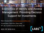 Economics of Identity and Access Management: Providing Decision Support for Investments