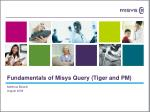 Fundamentals of Misys Query (Tiger and PM)