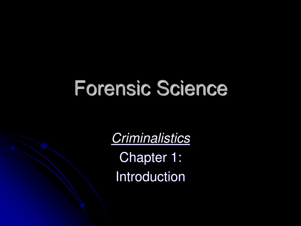 forensic science l.