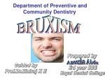 Department of Preventive and Community Dentistry